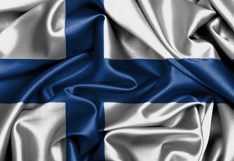 芬兰国旗缎旗