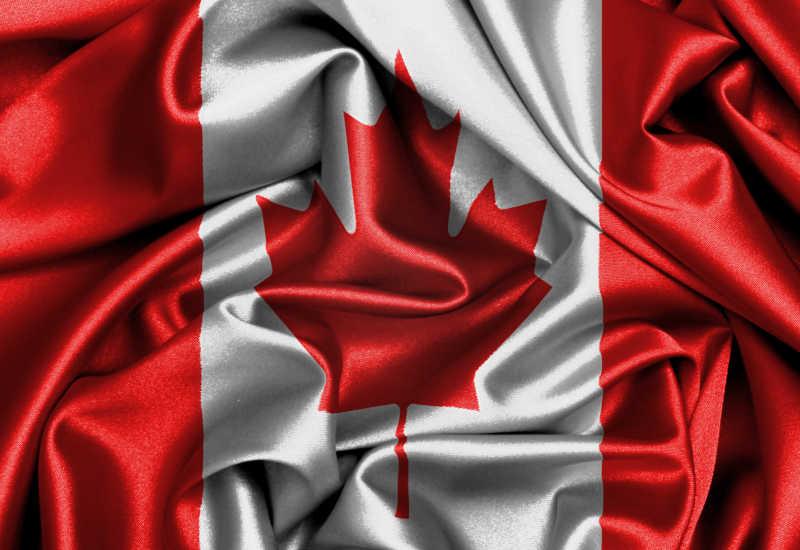 加拿大国旗缎面旗帜
