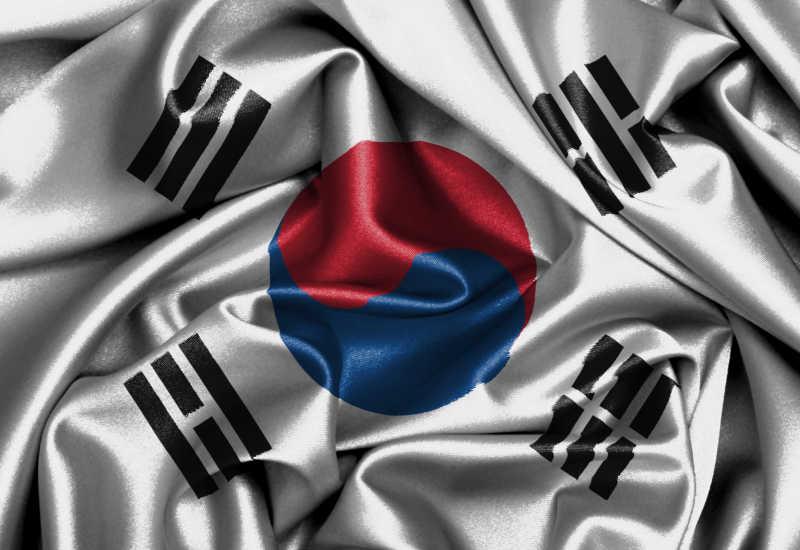 韩国国旗缎面旗帜