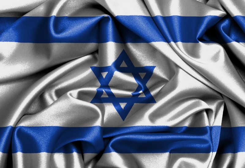 以色列国旗缎面旗帜