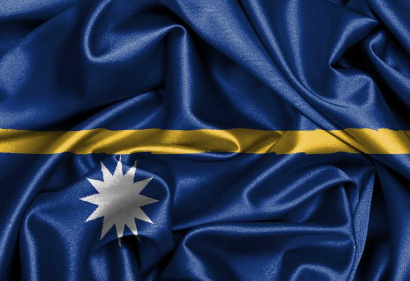 瑙鲁国旗缎面旗帜