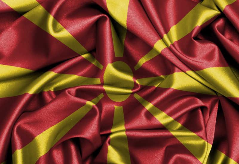 缎面旗帜马其顿国旗
