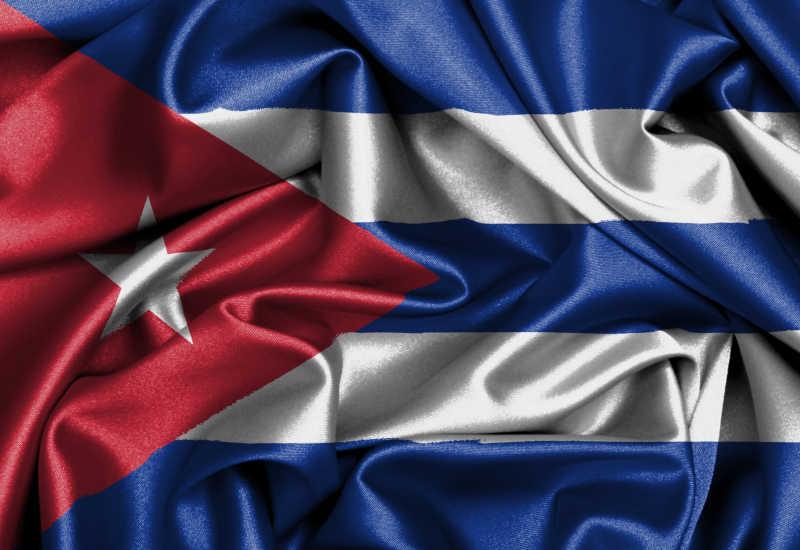 缎面旗帜古巴国旗