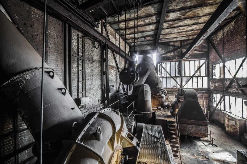 旧工厂的内部