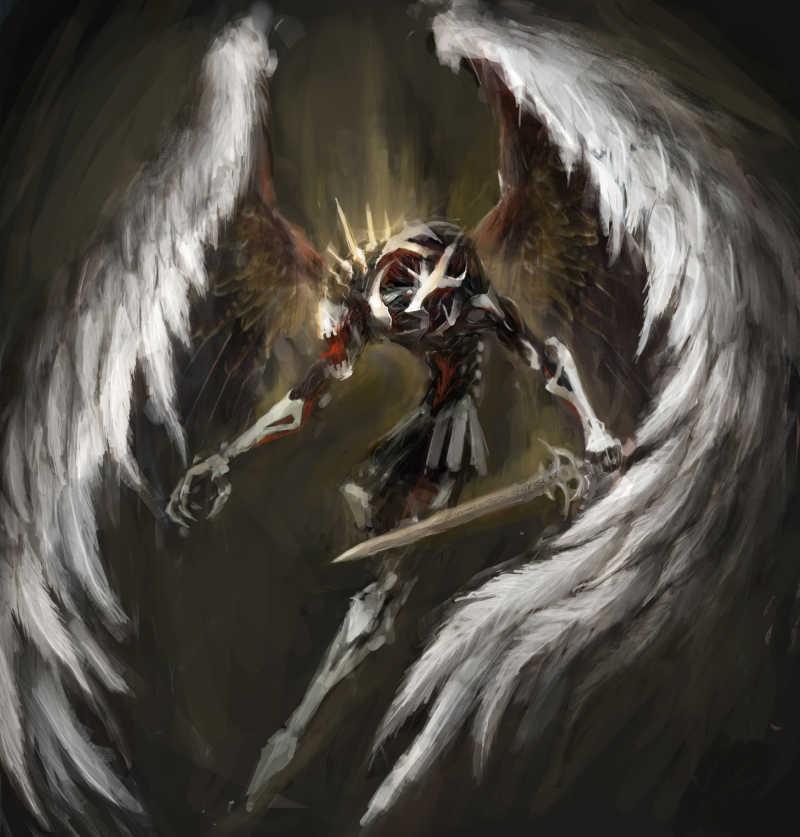 手拿长剑的天使