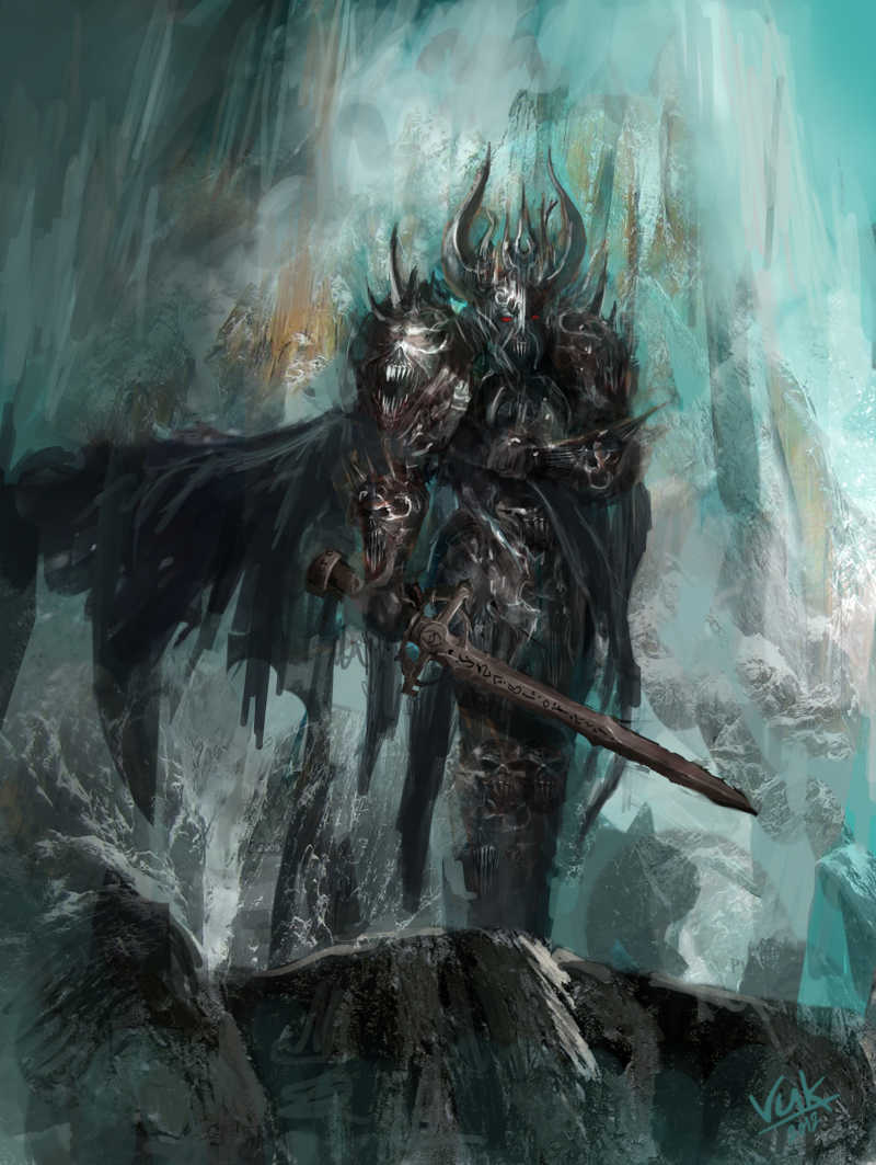 手拿长剑的死亡骑士