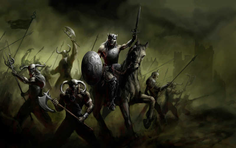将军领导军队参加战争