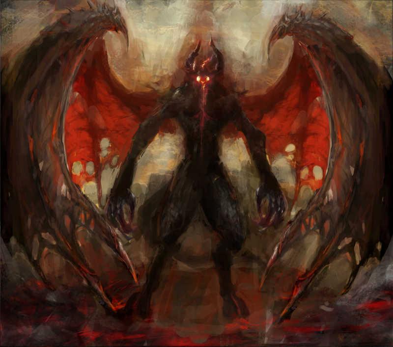 有翅膀的恶魔
