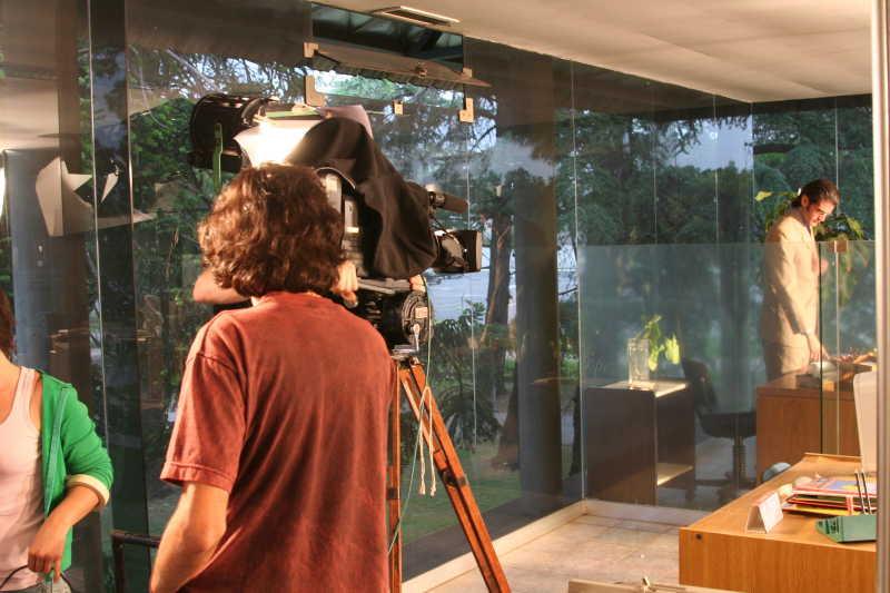 摄影机和演员