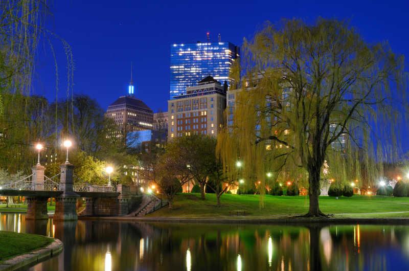 波士顿的公共花园