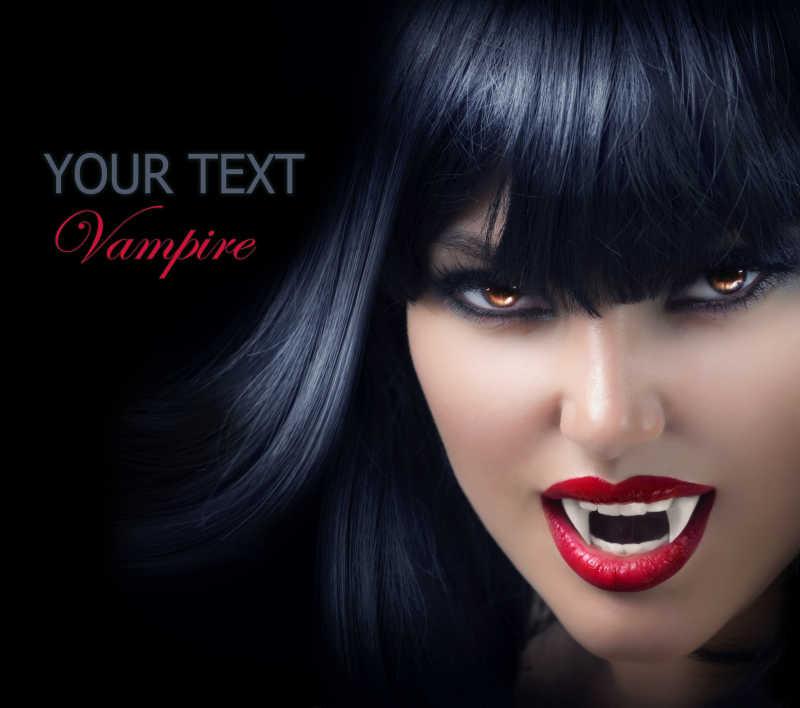 万圣节吸血鬼美女