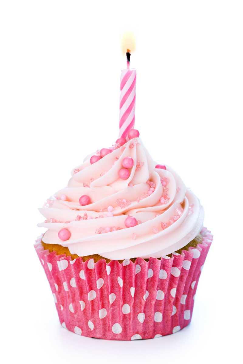 粉色的奶油蛋糕