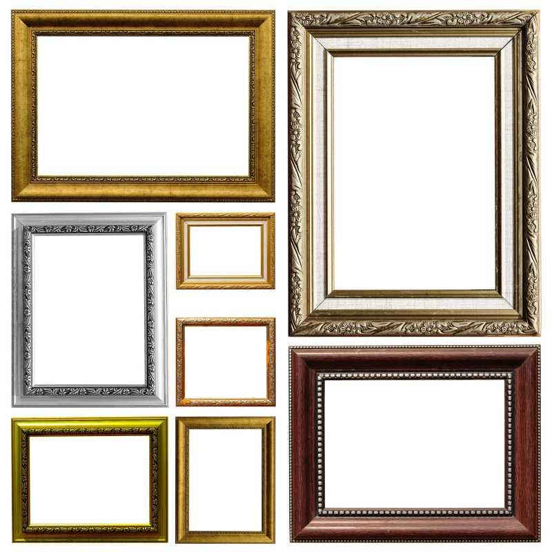 不同种类的空白相框