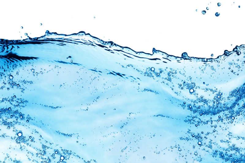 蓝色的水液体