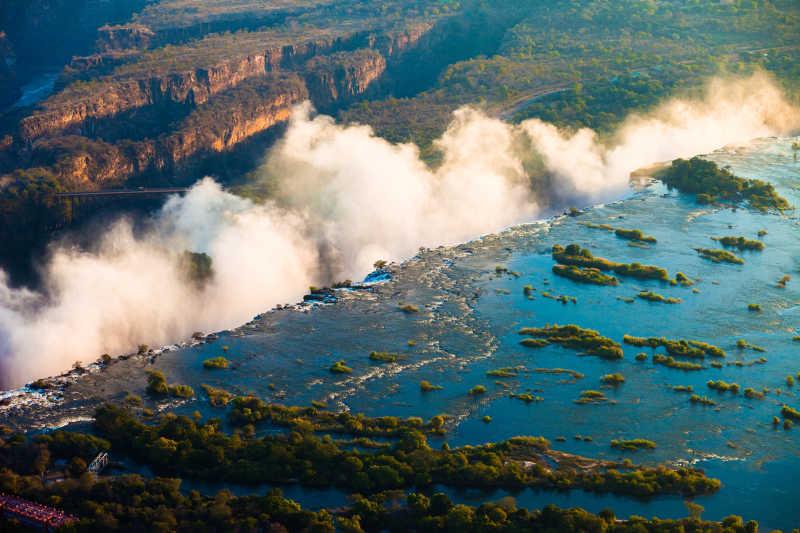 从空中看维多利亚瀑布