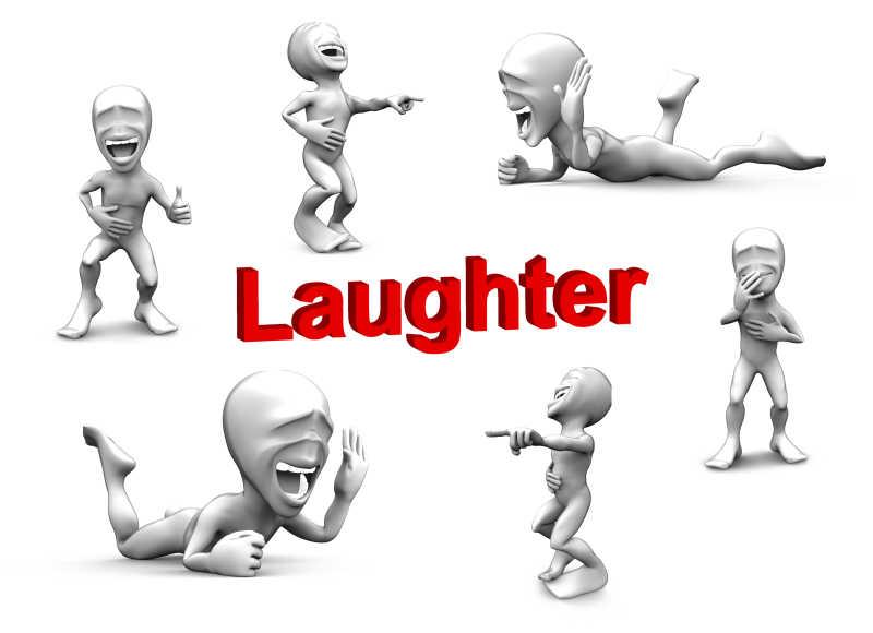 大笑的3D小人