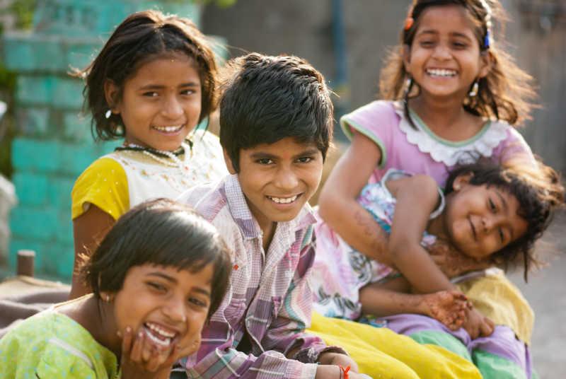 印度的农村孩子