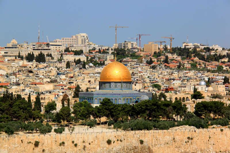 以色列耶路撒冷伊斯兰教清真寺