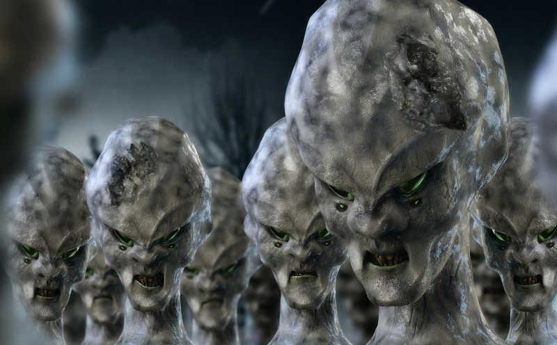 一群可怕的外星人