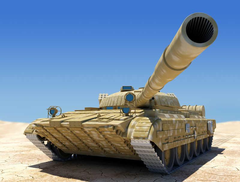 沙漠中的坦克军队