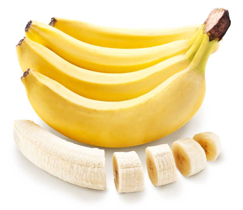 黄色与切片的香蕉