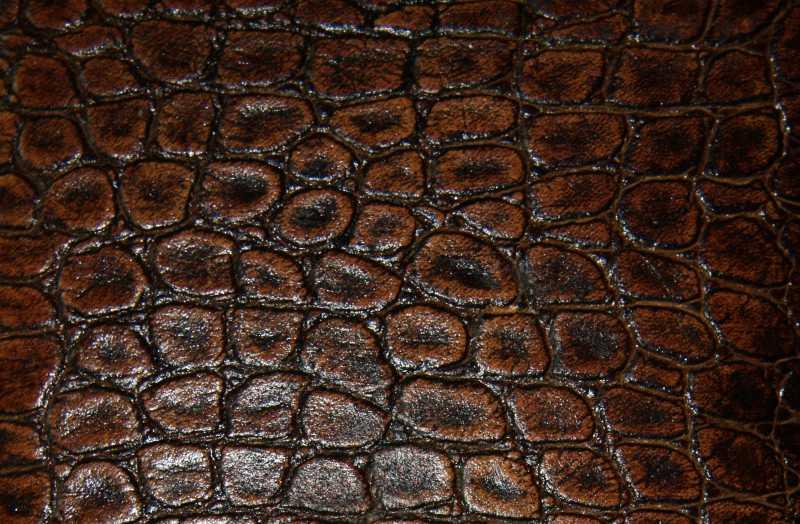 黑棕色旧皮革纹理背景