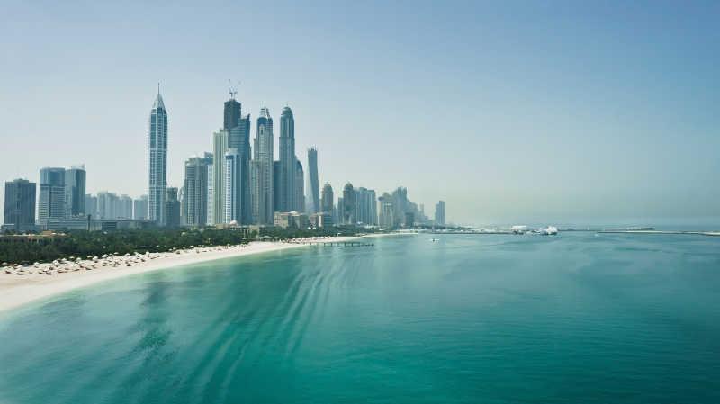 迪拜的海边