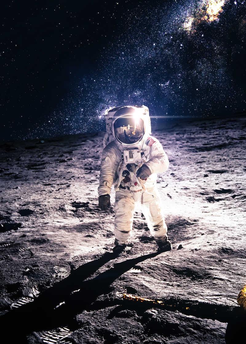 月球上的宇航员