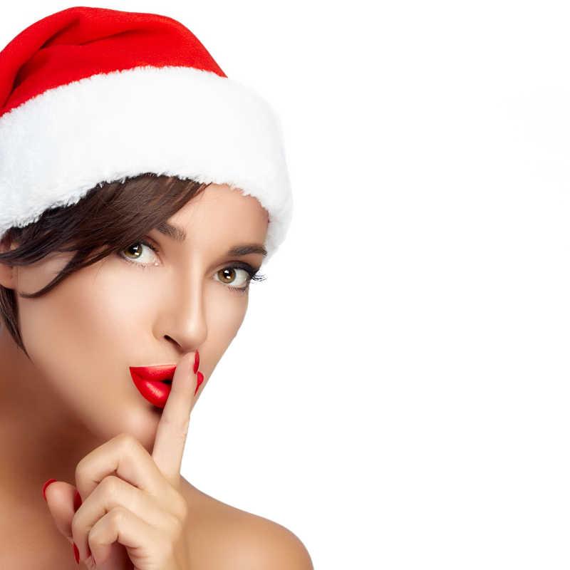 可爱的圣诞美女