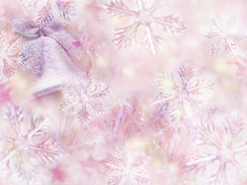 冬季圣诞铃铛雪花背景