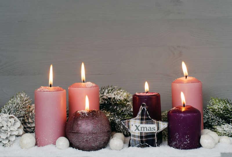 蜡烛圣诞装饰