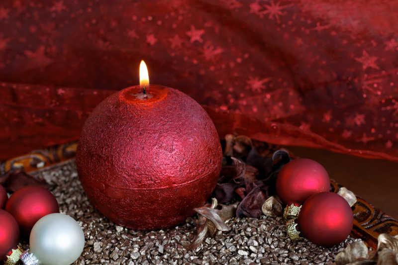 圣诞装饰蜡烛