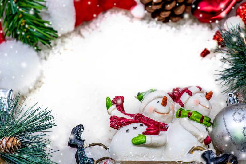 圣诞节的玩具雪人