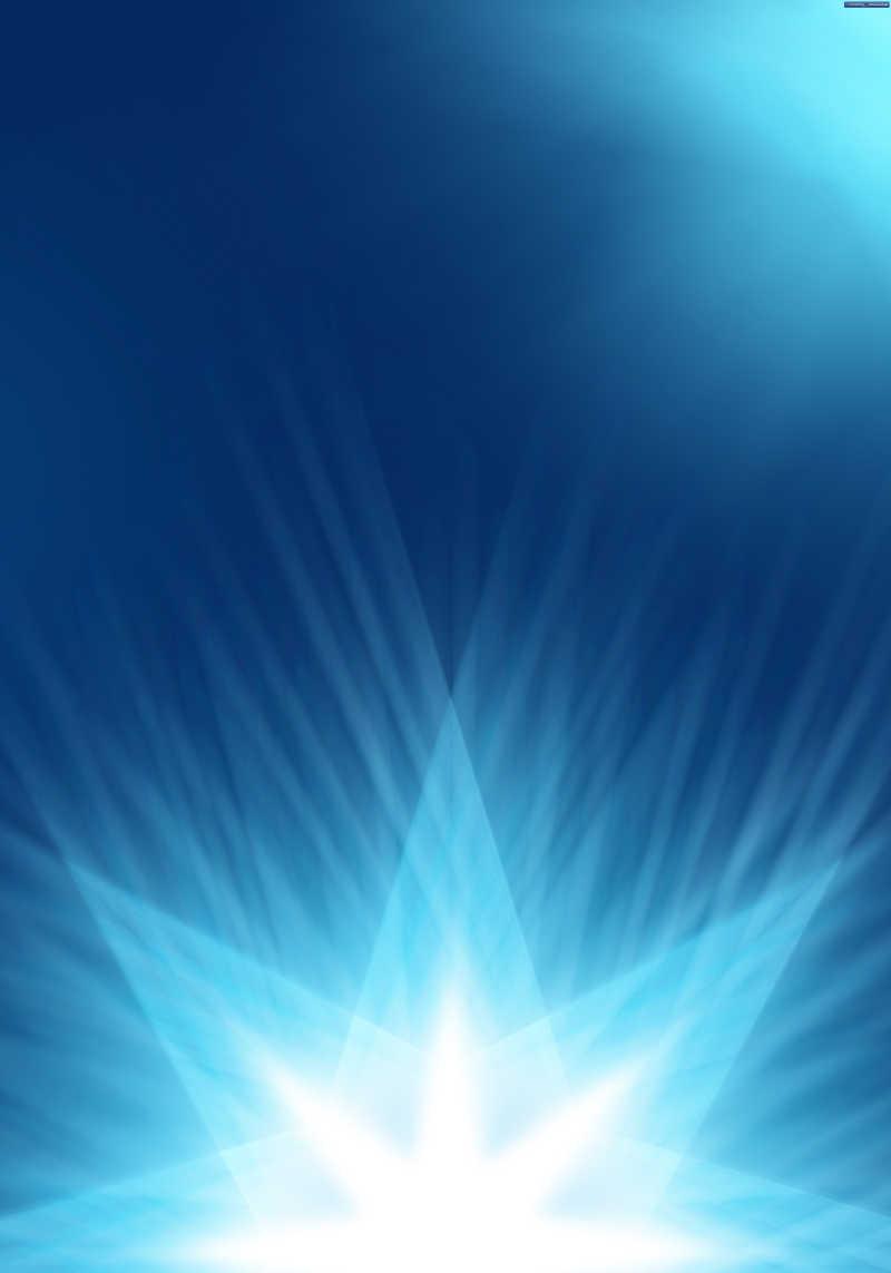 蓝色抽象星角背景