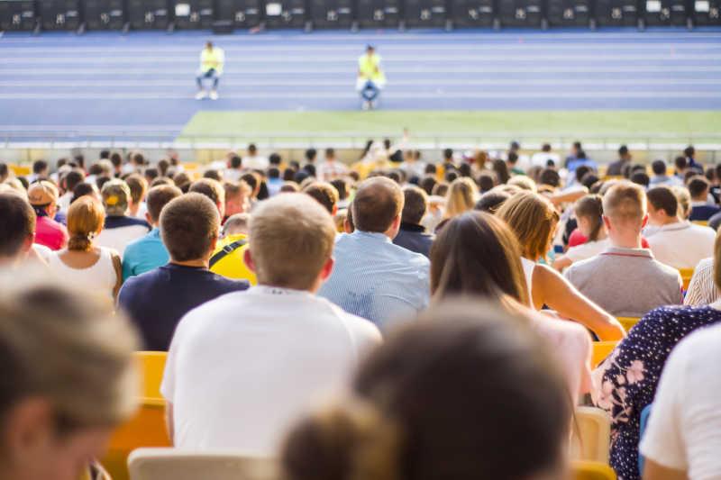 体育场里观众席角度