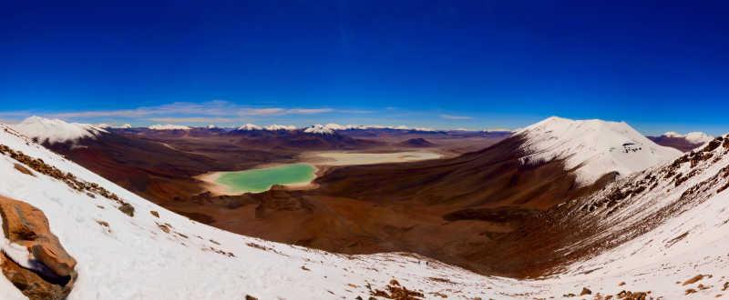 安第斯山脉海拔5500米的全景