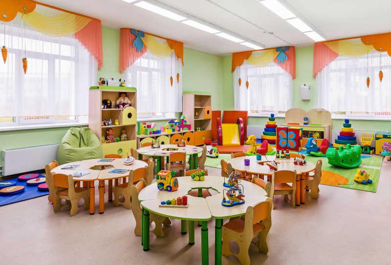 幼儿园孩子们的游戏室