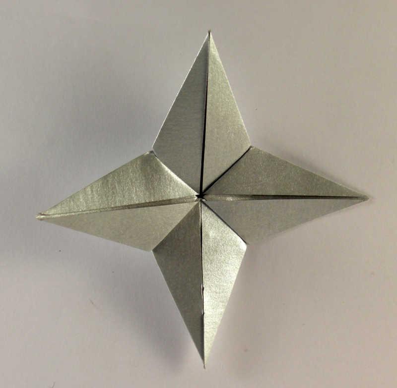 四角星折纸