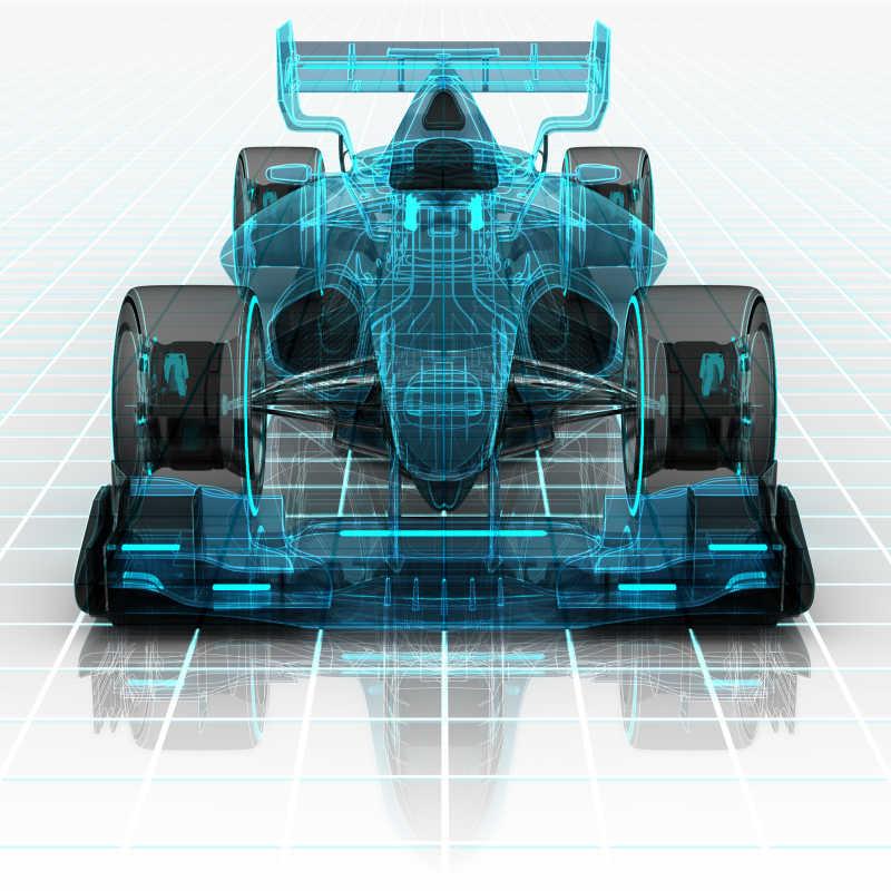 方程式赛车的线框草图