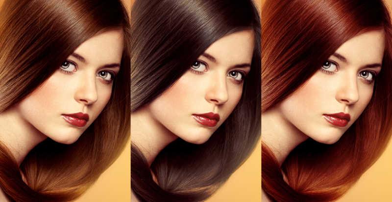 头发颜色和色调对比