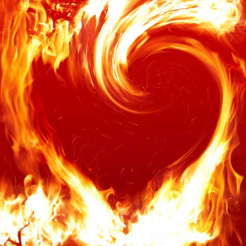 火焰组成的炽热的心