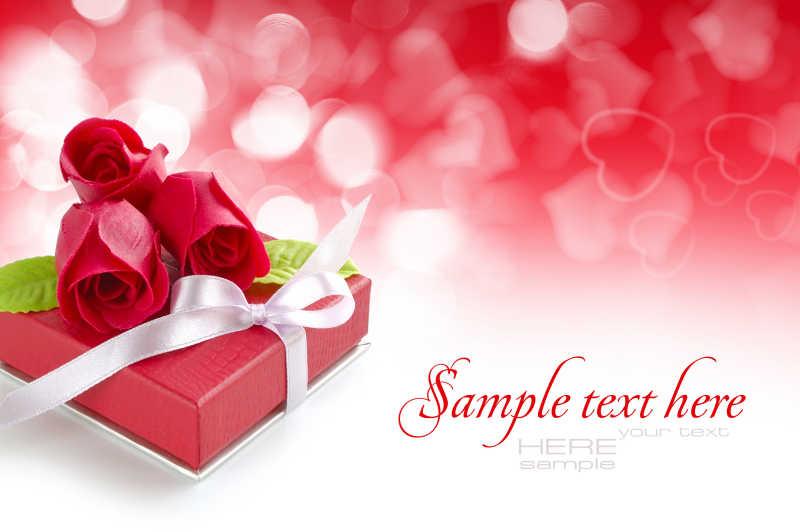 情人节准备的玫瑰红色小礼物