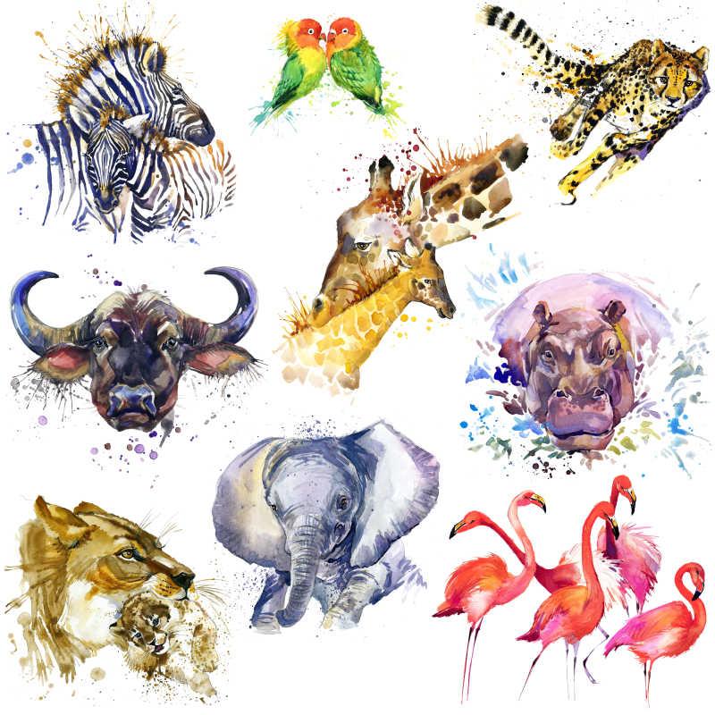 动物油画手绘