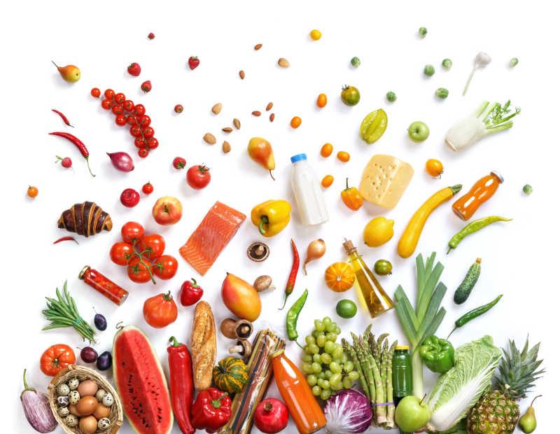 餐桌上的健康食物
