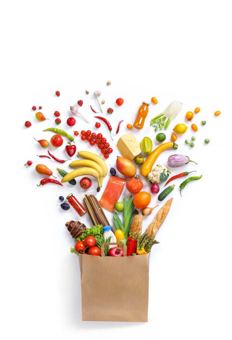 健康的食品包装