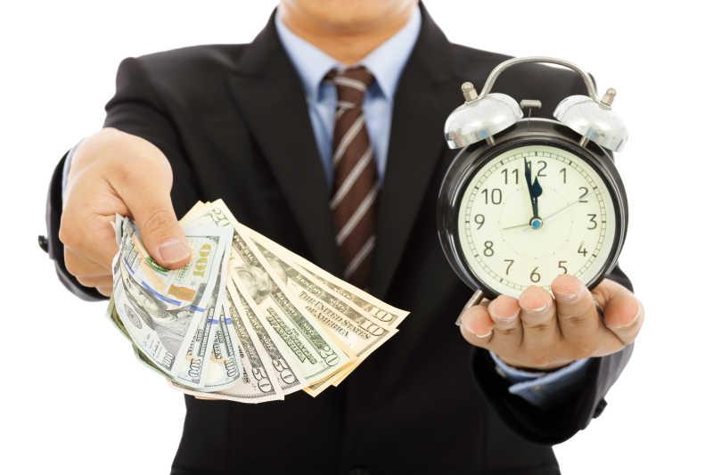 时间就是金钱的商业概念