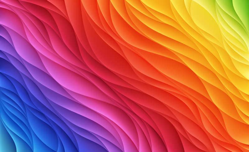 色彩缤纷的波浪纹理背景