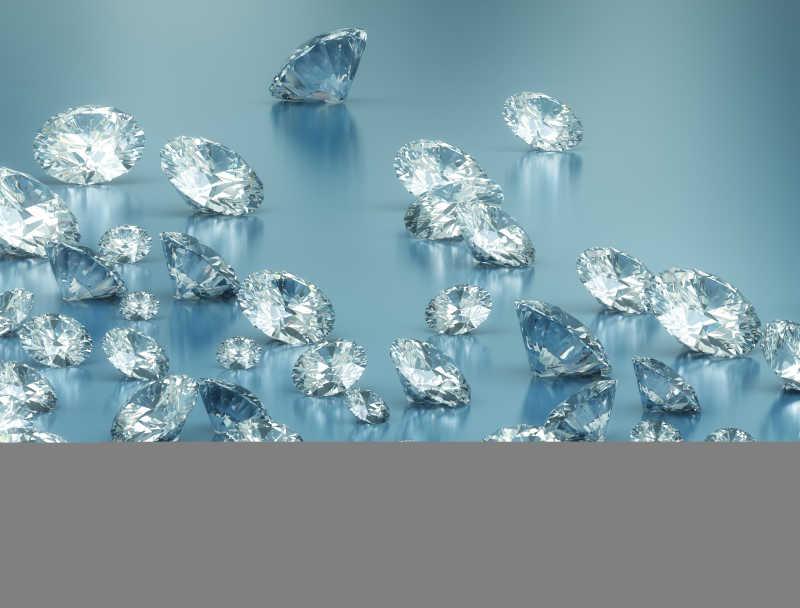 很多漂亮的钻石