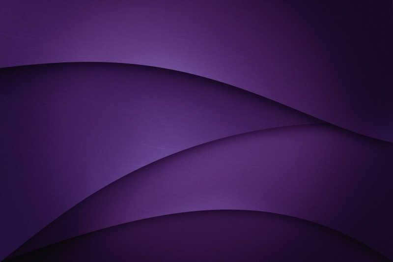 紫色曲线层叠渐变背景