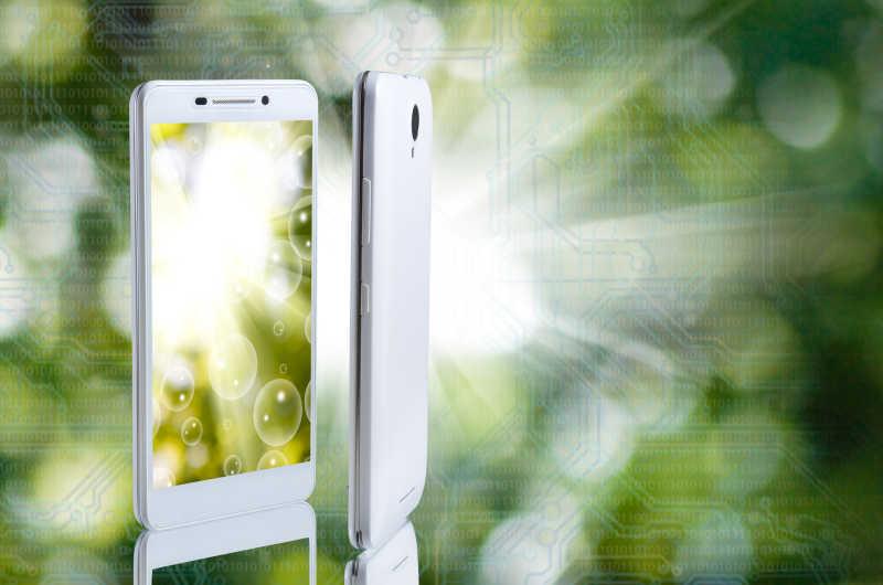 智能手机广告示意图